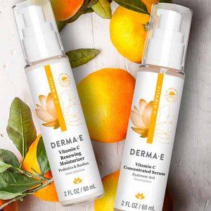 Free Derma E Vitamin C Renewing Moisturizer & Serum