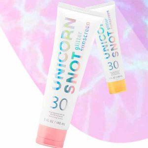 Free Unicorn Snot Glitter Sunscreen