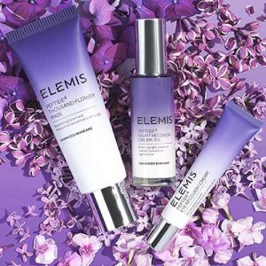 Free ELEMIS Eye Cream, Flower Mask and Night Recovery Cream-Oil