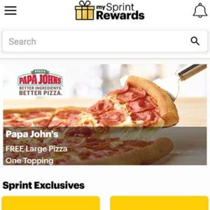 Free Large Pizza for Sprint Customers