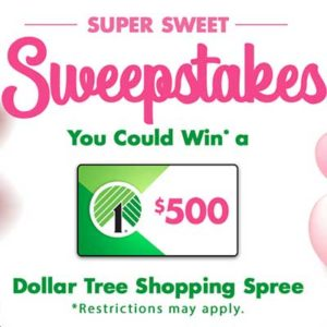 Free $500 Dollar Tree Shopping Spree