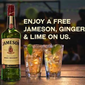 Free Jameson's, Ginger & Lime