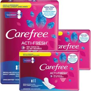 Free Carefree Acti-Fresh Panty Liners
