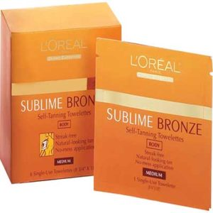 Free L'Oréal Sublime Bronze Self-Tanning Towelettes