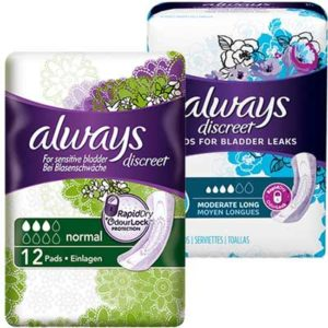 Free Always Discreet Pads and Liners