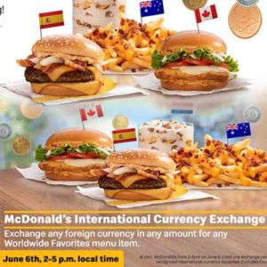 "Free McDonald's ""International Favorite"" Item"