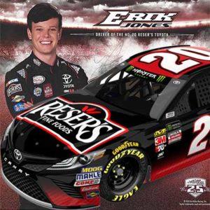 Free Erik Jones NASCAR Hero Card