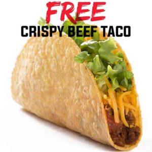 Free Crispy Beef Taco