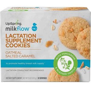 Free Milkflow Fenugreek Oatmeal Salted Caramel Lactation Supplement Cookie
