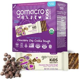Free GoMacro Kids Chocolate Chip Cookie Dough MacroBars