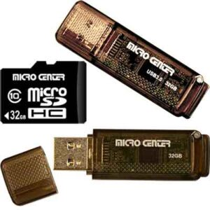 Free Micro Center 32GB MicroSD & Flash Drive