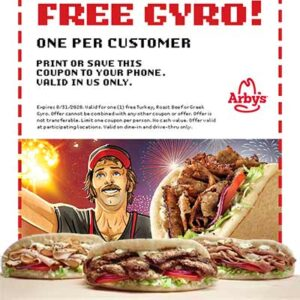 Free Turkey, Roast Beef or Greek Gyro