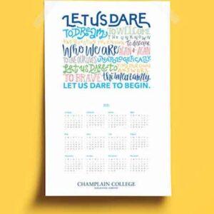 Free 2021 Champlain College Calendar Poster