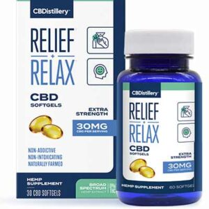 Free CBDistillery Broad Spectrum CBD Softgels