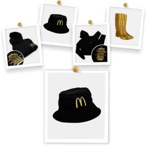 Free McDonald's Hoodies, Hats and Golden Wellies