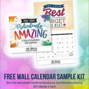 Free Positive Promotions 2021 Ridiculously Amazing Wall Calendar Sample Pack