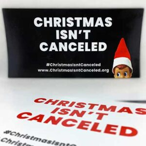 Free Christmas Isn't Canceled Car Magnet