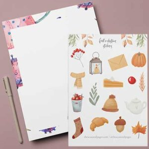 Free Printable Sticker Set & Stationery