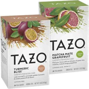 Free TAZO Turmeric Bliss and Matcha Mate Grapefruit Tea