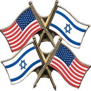 Free U.S. & Israel Flag Pin