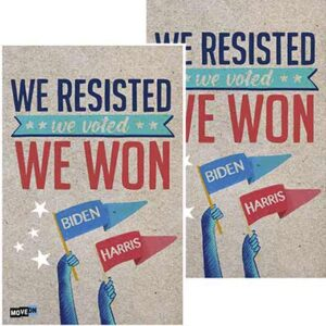 "Free ""We Resisted, We Voted, We Won"" Sticker"