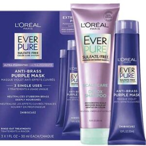 Free L'Oréal EverPure Anti Brass Purple Mask or Scalp Care + Detox Scalp Scrub Sample