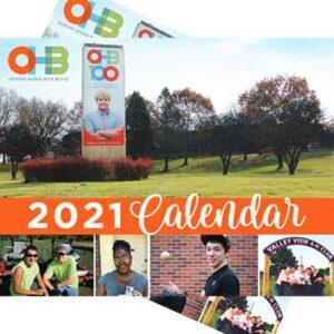 Free 2021 Calendar from OHB