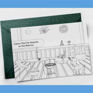 Free Children's Colouring In Postcard