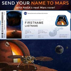 Send Your Name to Mars for FREE
