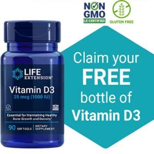 Free Bottle of Vitamin D3