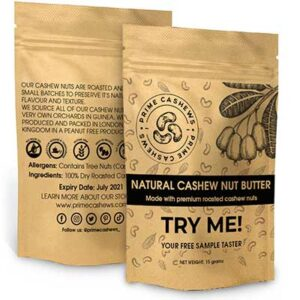 Free Cashew Nut Butter Sample