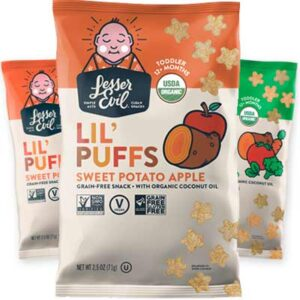 Free LesserEvil Lil' Puffs: Sweet Potato Apple