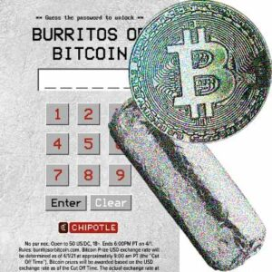 Free Chipotle Burritos or Bitcoin