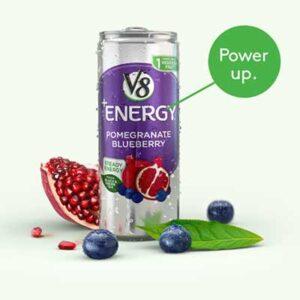 Free V8 Plus Energy Sparkling Drink