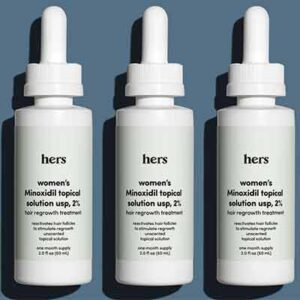 Free hims & hers Minoxidil Topical Hair Growth Solution
