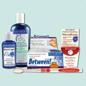 Free Eco-Dent Dental Gum, Tooth Powder & Daily Rinse