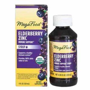 Free MegaFood Elderberry Zinc Immune Support Syrup