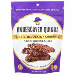 Free Undercover Snacks' Milk Chocolate Quinoa Crisps