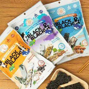 Free Korean Super Snacks Black & Black Seaweed